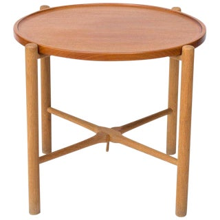1950s Mid-Century Modern Hans Wegner Andreas Tuck Side Table For Sale