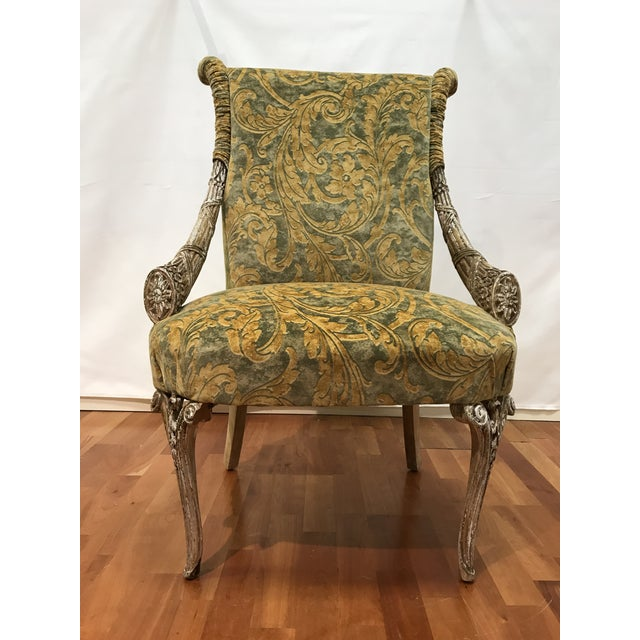 Empire Grosfeld House Lee Jofa Printed Velvet Chair For Sale - Image 12 of 12