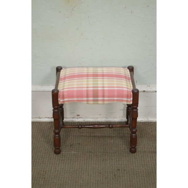 William & Mary Style Bobbin Turned Walnut Stools or Benches - A Pair For Sale - Image 12 of 13