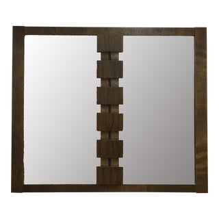 Mid-Century Modern Brutalist Hanging Mirror For Sale