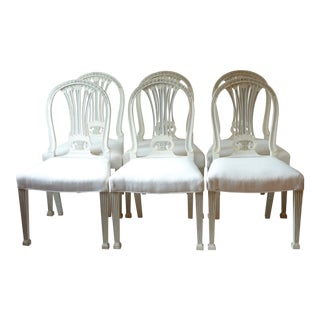 Late 19th Century Antique Swedish Dining Chairs - Set of 6 For Sale