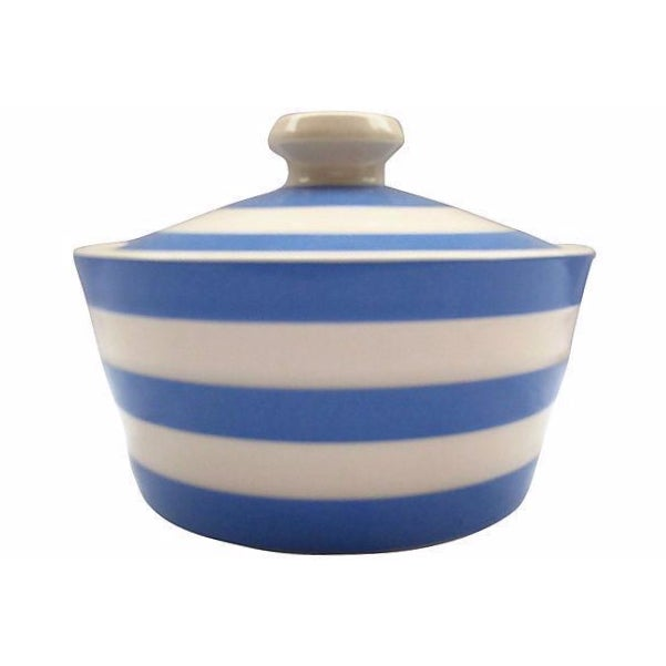 English Cornishware Lidded Butter Tub - Image 1 of 2