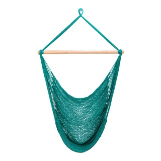 Teal Green Cotton Hammock Swing For Sale