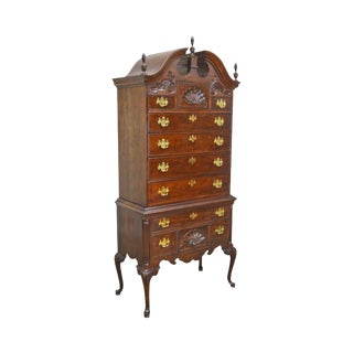Thomasville the Mahogany Collection 18th Century Style Queen Anne Highboy For Sale