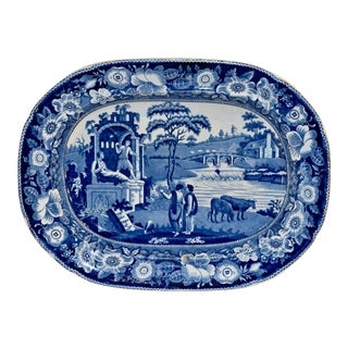 19th C Staffordshire 'Philosopher' Platter