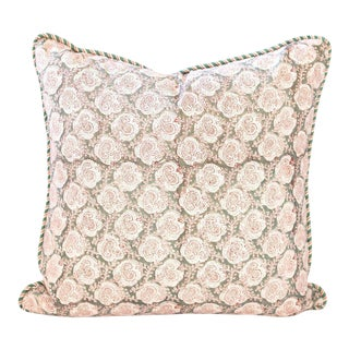 "Kolleru Block Print Pillow - 26x26"" For Sale"