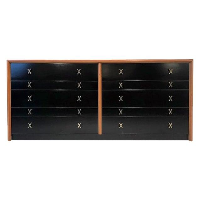 Paul Frankl for Johnson Furniture John Stuart Ten Drawer X Pull Dresser Chest For Sale