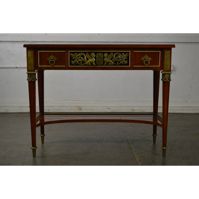 John Widdicomb Neo Classical Style Bronze Mount 1 Drawer Console Table For Sale In Philadelphia - Image 6 of 13