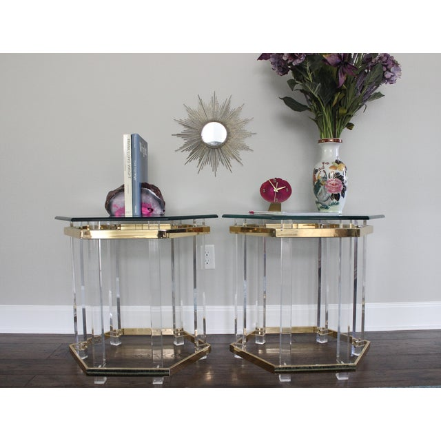 Charles Hollis Jones Style Lucite Tables - A Pair - Image 10 of 10