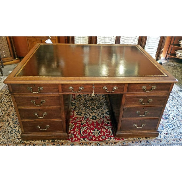 Early 19th Century William IV Mahogany Partners Desk For Sale - Image 13 of 13