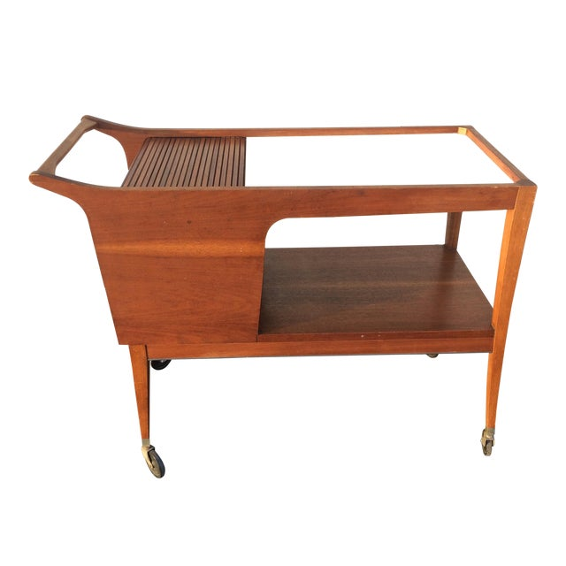 Mid-Century Modern Bar Cart - Image 1 of 9