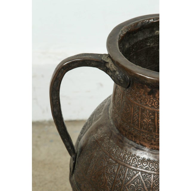 19th Century Persian Copper Pot With Handle For Sale - Image 4 of 7