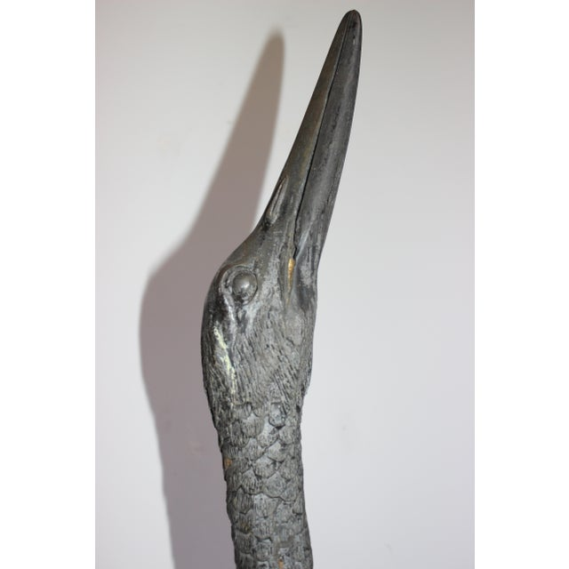 Bronze Crane Sculptures 6 Ft - a Pair For Sale - Image 9 of 13