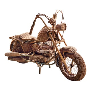 Tom Dixon Life Size Wicker Harley For Sale