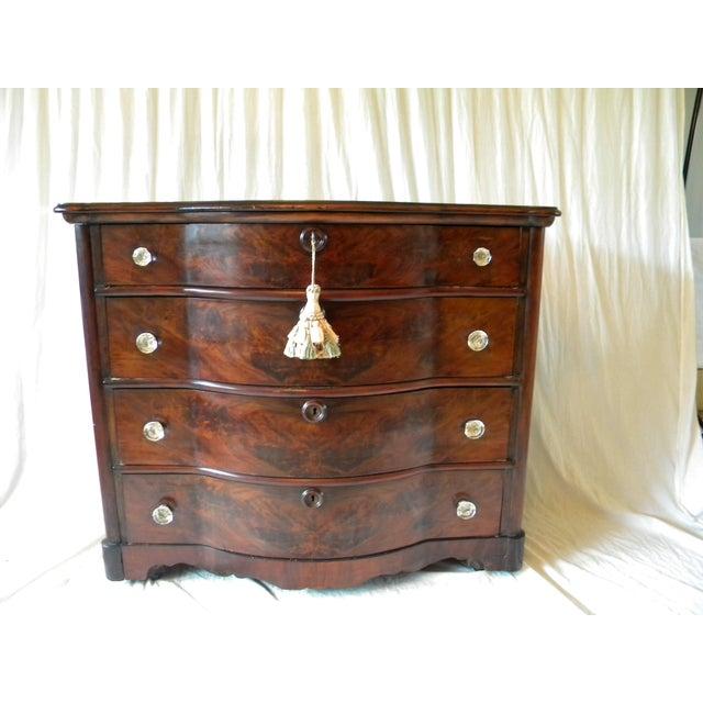 Antique Flamed Mahogany Dresser For Sale - Image 12 of 12