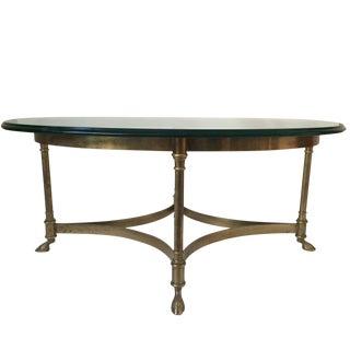 La Barge Brass Hoof Feet Coffee Table
