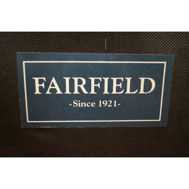 Fairfield French Style Plaid Upholstered Arm Chair - Image 9 of 10