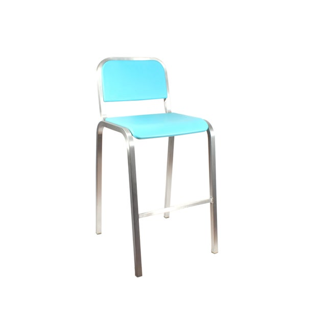 Late 20th Century Vintage Ettore Sottsass for Emeco Nine-0 Bar Stool For Sale - Image 11 of 11