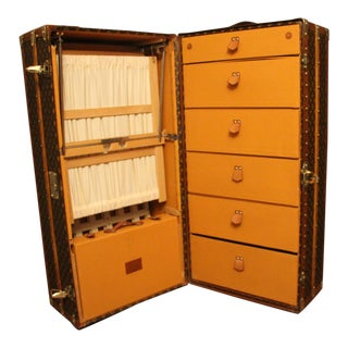 1930's Louis Vuitton Wardrobe Trunk For Sale