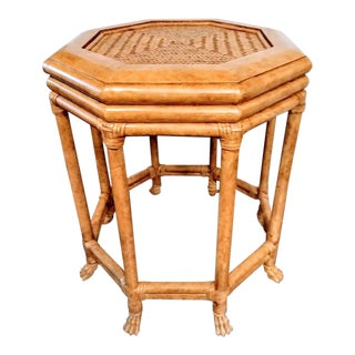 Lexington Furniture Co Claw Foot Hexagon Side Table For Sale