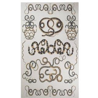 Serpents Cashmere Blanket, Queen For Sale