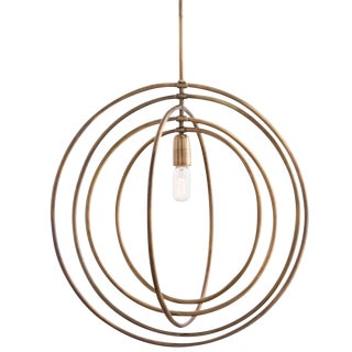 Arteriors Quintana Antique Brass Chandelier For Sale
