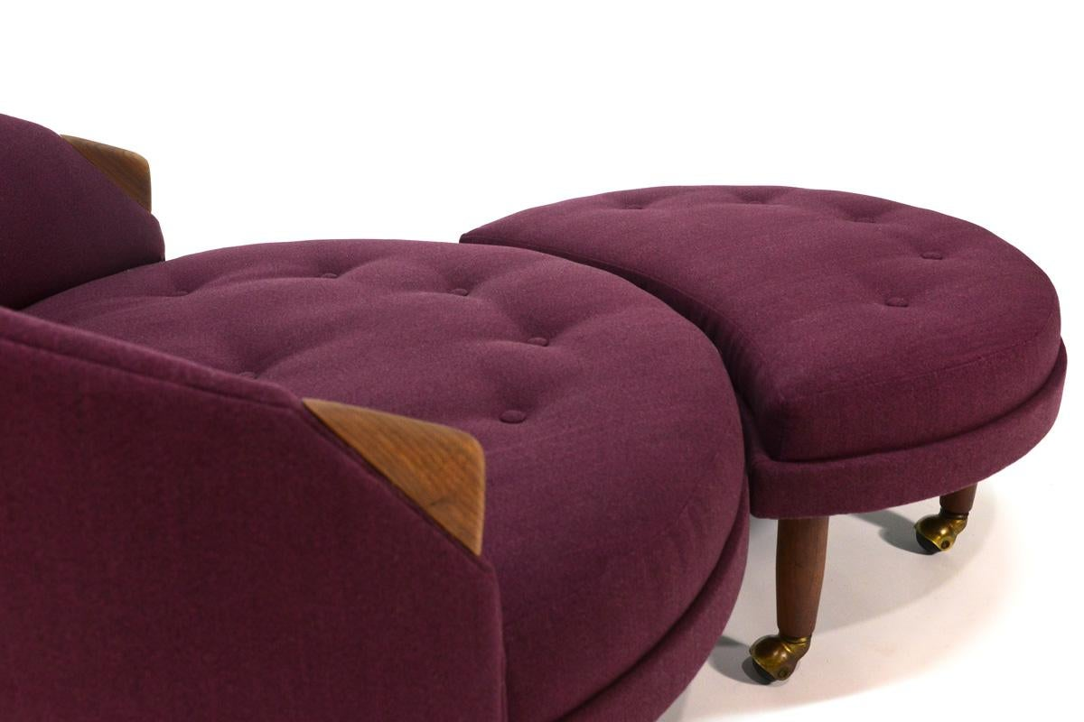 Lovely Adrian Pearsall Havana Round Chair And Ottoman   Image 4 Of 6