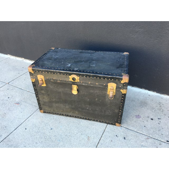 Distressed Vintage Steamer Trunk - Image 2 of 5