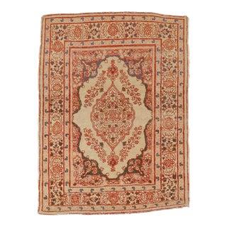 Antique Hadji Jalili Tabriz Rug- 1′10″ × 3′3″ For Sale