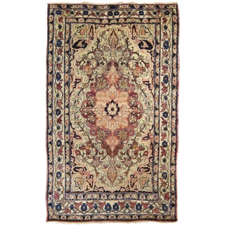Antique Persian Kirman Lavar Rug For Sale