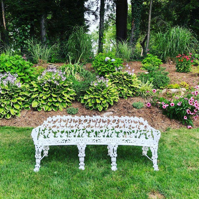 Fine 1960S Neoclassical White Floral Garden Bench Cjindustries Chair Design For Home Cjindustriesco