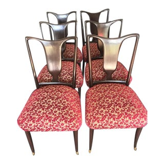 Vintage 1940's Paolo Buffa Style Modern Italian Dining Chairs - Set of 6 For Sale