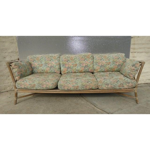Vintage Mid Century Modern McGuire Bamboo Sofa Settee | Chairish