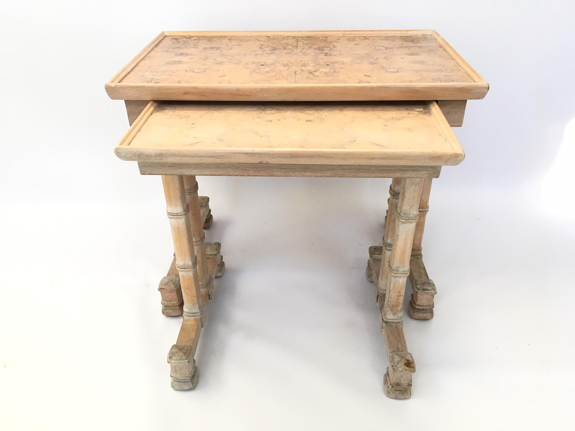 Dorothy Draper Heritage Bamboo Nesting Side Tables   A Pair   Image 4 Of 7
