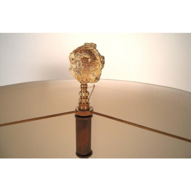 Large Elegant Pair of Venetian Gold and Clear Blown Glass Lamps - Image 7 of 7