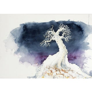 Lone Tree Watercolor For Sale