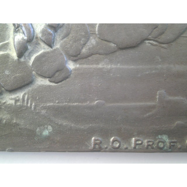 Black Neoclassical Bronzed Relief R.O. Prof. G. Gambogi For Sale - Image 8 of 10