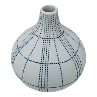 Blue and White Bud Vase