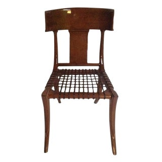 Mid Century Modern Style Klismos Dining Chair For Sale