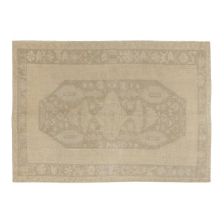 1960s Heritage Oushak Beige Area Rug-5'12'' X 8'8'' For Sale