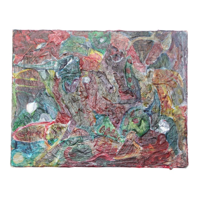 Original Vintage Abstract Painting For Sale