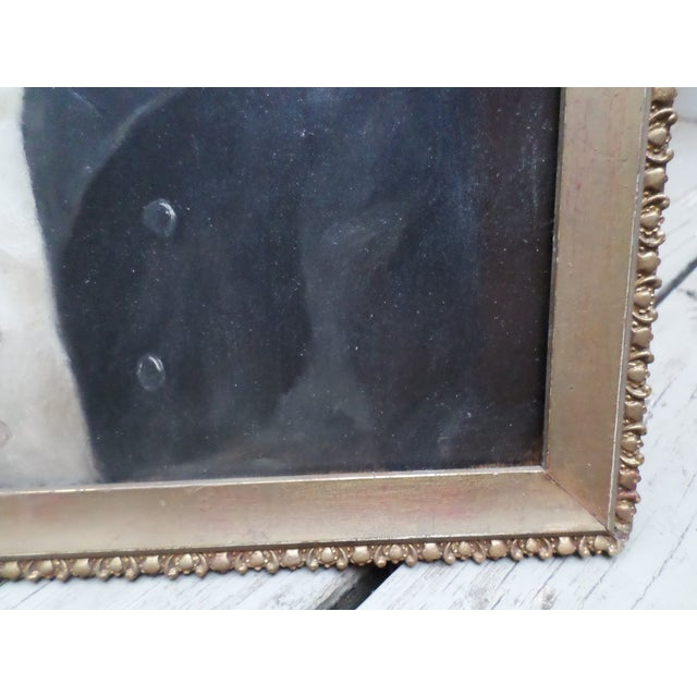 2010s Portrait of a Pug, Contemporary Oil on Board For Sale - Image 5 of 9