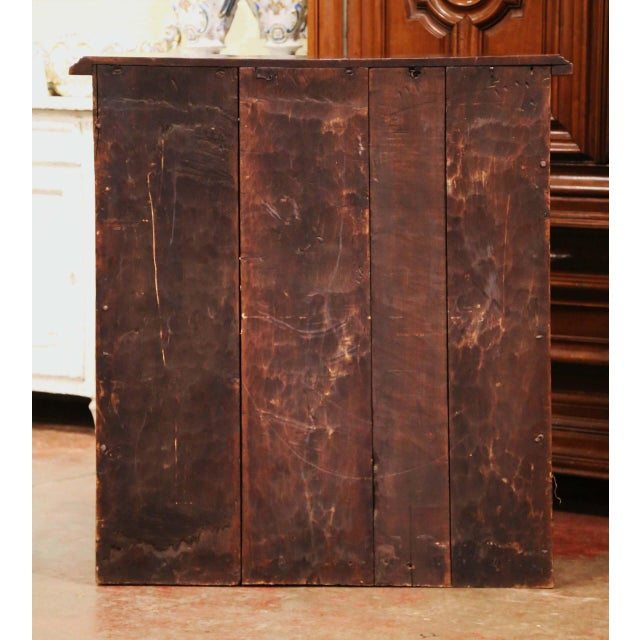 17th Century Spanish Catalan Carved Walnut Two-Door Buffet Cabinet For Sale - Image 12 of 13
