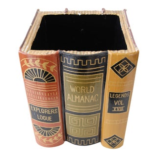 Paper Mache Faux Book Decorative Box For Sale
