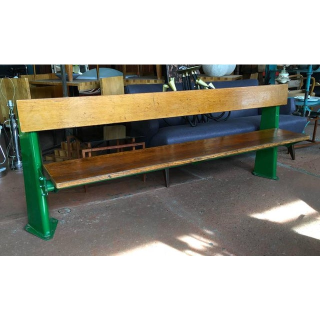 Bench from the back row of the University of Paris Medical School Auditorium, circa 1957, in completely original...