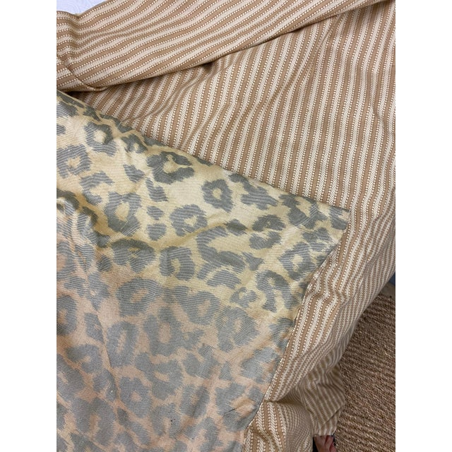 Contemporary Cheetah Upholstered Queen Bed with Italian Gold Leaf Corona For Sale In Dallas - Image 6 of 9
