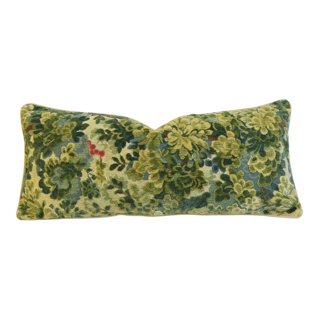 """Italian Scalamandre Velvet Marly Feather/Down Pillow 33"""" X 14"""" - Image 1 of 7"""