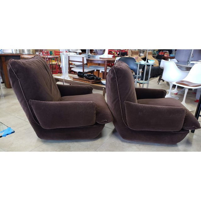 Great pair of brown side chairs made by Airborne Furniture in great condition! See the matching sofa in our shop. Our...