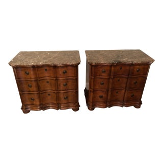 Traditional Hickory Chair Company Wooden Nightstands - a Pair