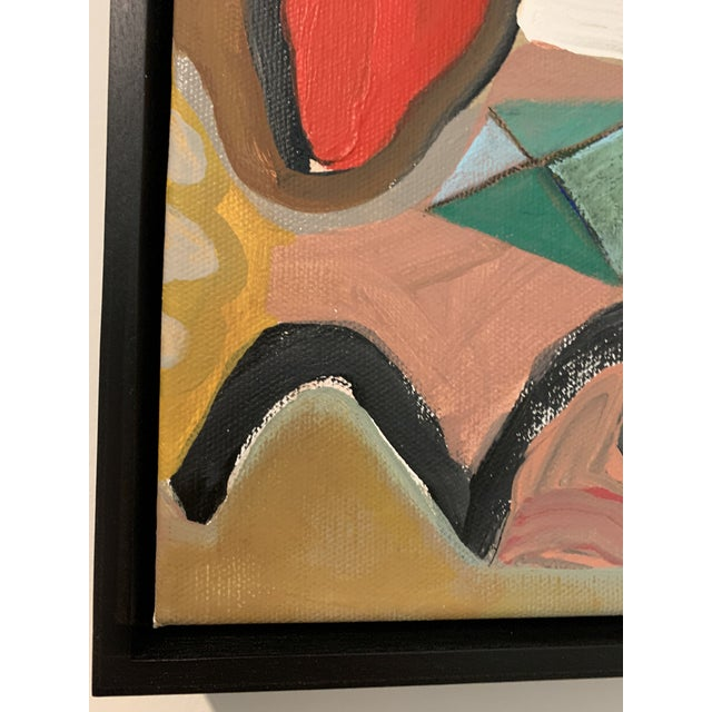 Black Floater Framed Contemporary Abstract Original Painting For Sale - Image 9 of 10
